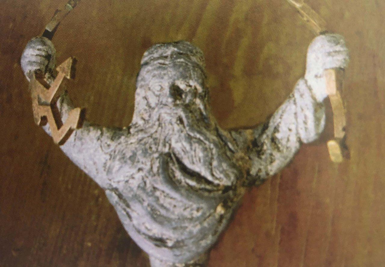 Die Figur wurde im Bereich des Schlüssellochs gefunden