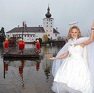 Schloss Ort mit Adventskranz 2014, (c) Wolfgang Spitzbart