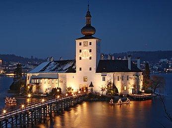 Advent Schloss Ort in Gmunden