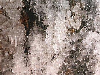 Eisgebilde Trefferwand